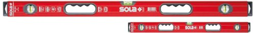 Sola Magnetic BIG RED 78'' and 32'' High Profile Aluminum Box Levels w/Handles - Door Jamb Set - BRM7832 by Sola Levels