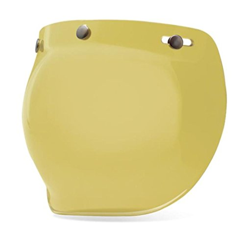 BELL Unisex Adult 3-Snap Hi-Def Yellow Bubble Shield 7018136