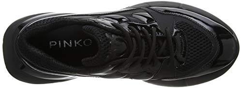 Pinko Tecnica Rete Gommato nero Z99 Baskets Femme Sneaker Limousine Enfiler Rubino Noir gqTWrg