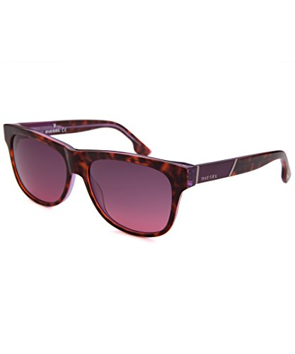 Diesel-Unisex-DL0085-55B-Square-Sunglasses-TortoisePurple-57mm