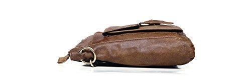 Shoulder Messenger Men's Leather For Bag Brown Leisure Retro Cowhide 1C1OfnRT