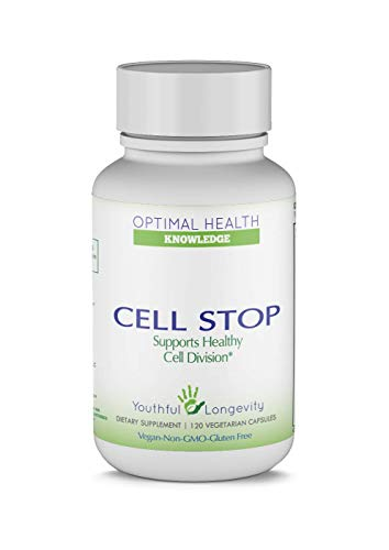 Cell Stop, Powerful Cell Division Support, Propriety Blend of Natural Ingredients Including Reishi Mushroom, Turkey Tail Mushroom, Beta Glucan, Selenium, and Others – 120 Veggie Capsules
