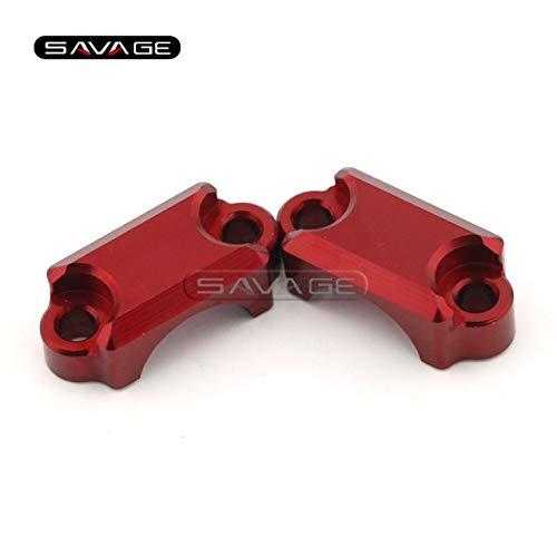 Wincom Dishman Frames & Fittings for Honda Vfr 800/1200 Vfr1200F Vfr1200X Vfr800F Vfr800 VTEC Motorcycle Clutch & Brake Master Cylinder Clamp Bar Clamp Cover - (Color: Red)