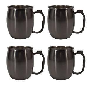 20 oz. Stainless Steel Moscow Mule Mug, Set of 4 Gunmetal