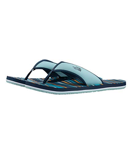 North Face Kids Base - The North Face Youth Base Camp Flip-Flop, Shady Blue/Canal Blue, Size 11
