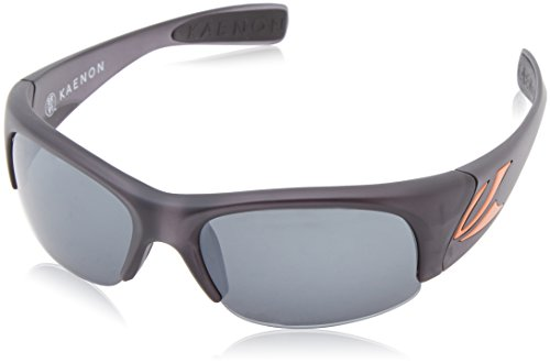 Kaenon Men's Hard Kore Polarized Shield Sunglasses, Graphite & Orange Logo, 42 - Kaenon Sunglasses Kore