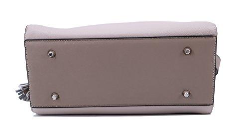 Lapidus grainé porté 9814 épaule cuir aspect Sac Gris Ted Tressy Perle synthétique tzx7cwcdqO