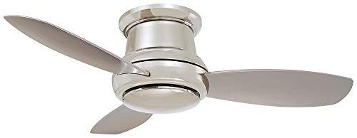 "Minka-Aire F518L-PN, Concept II 44"" LED Ceiling Fan, Polishe"