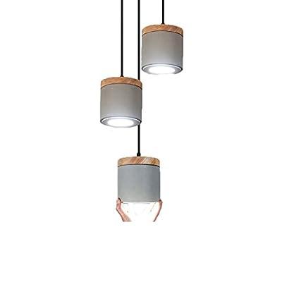 LED Hanging Lamp Pendant Light Ceiling Lamp Retro Industrial Simple Concrete Cement Decoration Pendant Lamp for Coffe Shop Loft Corridor Club Resturant Bar Kitchen Living Room Hallway