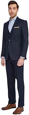 メンズ3個は2つのボタンのノッチの折り返しのビジネスドレスのスーツセットを証明しました