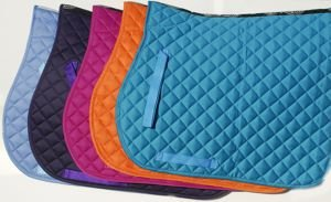 Rhinegold Cotton Quilted Saddle Cloth Cob, White