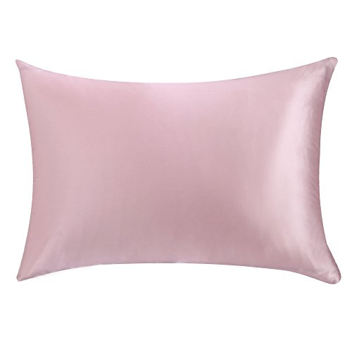 Light Pink Gift (OOSILK 100% Mulberry Silk Pillowcase for Hair Queen 20in x 30in ,Light Plum,Gift Wrap, 1pc)