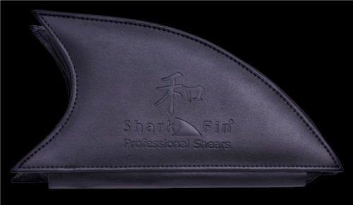 Sharkfin Gold Line Swivel Blue Left Handed Pet Grooming Texturizer Straight Blade 50 tooth + Aviva Nail Buffer