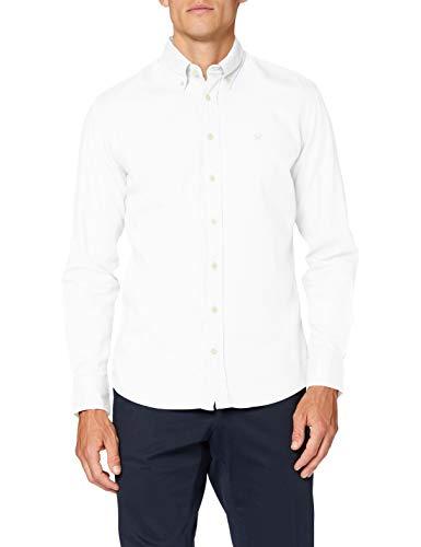 Hackett London Men's Dye Oxford Slim Shirt, White