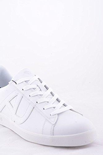 Sneakers scarpe sportive Armani Jeans 935565 CC500 45510 bianche con retro azzurro