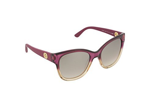 Gucci Women's Two Tone Faded Sunglasses, Shaded Fuchsia/Brown, One - Gucci Purple Sunglasses