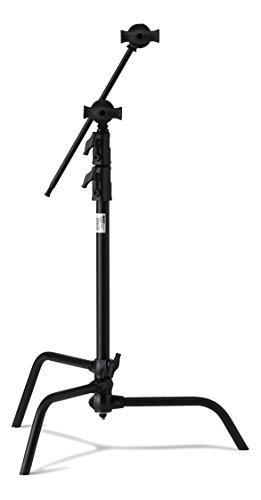 Kupo 20'' Sliding Leg Kit (Stand, 2.5'' Grip Head & 20'' Grip Arm with Hex Stud) - Black by Kupo