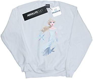 Disney Herren Frozen 2 ELSA Nokk Silhouette Sweatshirt Weiß XXXX-Large