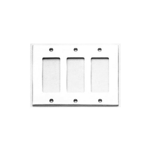 Omnia 8023/T Triple Rocker Switch Plate from the Classics Collection, Satin (Triple Gfi Switchplates)