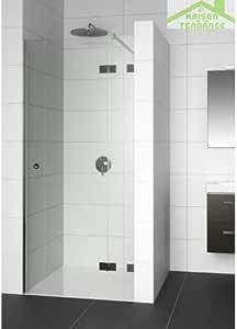Mampara de ducha batiente izquierda RIHO ARTIC A104 de cristal ...