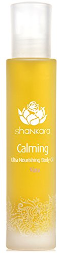 Shankara Calming Body Oil - Relaxing & Nourishing Massage Oil - Ayurvedic, Herbal Daily Moisturizer - pH Balanced, Rich in Essential Oils, Vitamins & Antioxidants - Suits All Skin Types - 100 ml