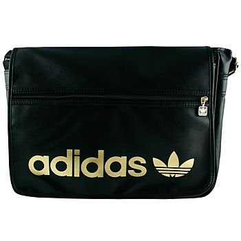 4194ffd15cb9 Adidas Originals Adicolor Messenger Bag Black   Gold  Amazon.co.uk  Sports    Outdoors