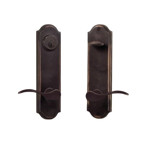 Weslock 7645H-LH Tramore Dummy Set with Left Handed Carlow Levers, Oil Rubbed Bronze