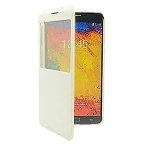 GX Sleep Calidad / despertador de la PU caso completo de cuerpo con Call Display Window para Samsung Galaxy Nota 3 N9000 , Brown