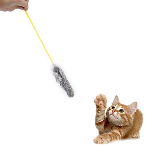 1 x Kaninchen Haar Katze Spielzeug Charmeur Zauberstab Pole Teaser Macht Katze Lustige