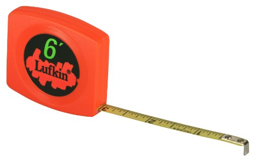 Lufkin Pocket Tape - Lufkin W616BO 1/4-Inch x 6-Foot Pee Wee Pocket Tape, Hi-Viz Orange Case