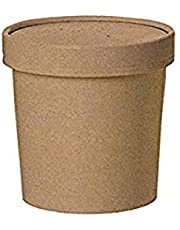 Packnwood PK210SOUPCOK12 Round Kraft Soup Cup with Lid, 12 oz (Pack of 25)
