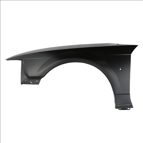 CarPartsDepot, Left (Driver Side) 2D 3.8L 4.6L Front Fender Primed Steel With Antenna Hole, 371-18456-01 FO1240201 XR3Z16006AA