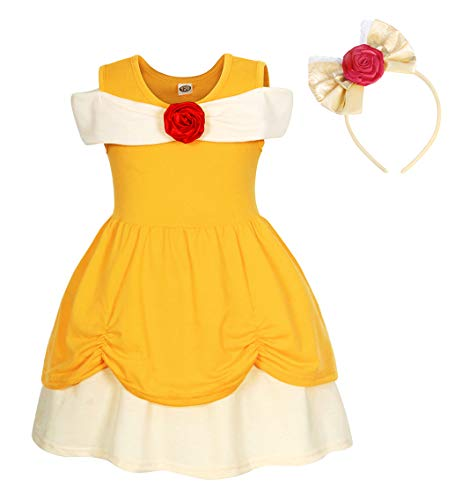 Holiday Princess Belle - AmzBarley Little Girls Princess Belle Dress