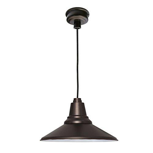 Mahogany Bronze Finish Pendants - Cocoweb 12 Inch Calla LED Ceiling Pendant Barn Light (Mahogany Bronze)