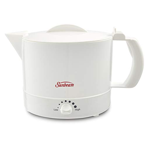 Mr. Coffee Sunbeam BVSBWH1001 Electric Hot Pot, White, 1, (Renewed)
