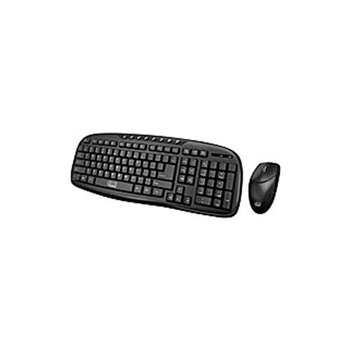 Adesso WKB-1330CB- 2.4 GHz Wireless Desktop Keyboard and Mouse Combo - USB Wireless RF 103 Key - English (US) - USB Wireless RF Optical - 1200 dpi - 3 Button - Scroll Wheel (Certified Refurbished)