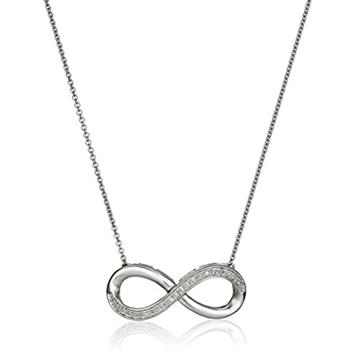 Small diamond pendant amazon sterling silver diamond accent infinity pendant necklace 18 aloadofball Image collections