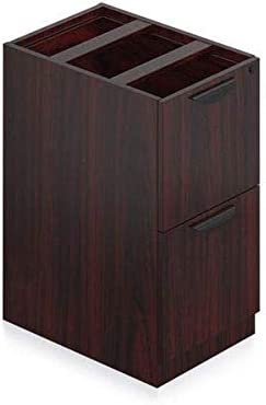 Laminate Rectangular Desk Shell 60″ x 30″ Color Espresso Assembly 2 Pedestals Drawers 3/4