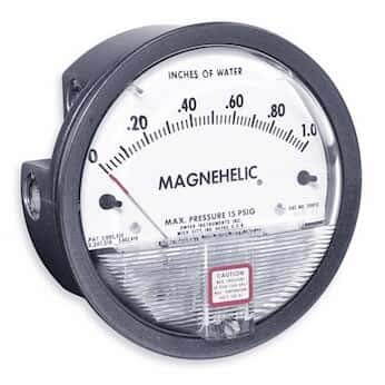 Dwyer Differential Pressure Gauge - Dwyer 2005 Magnehelic Differential Pressure Gauge, Type, 0 to 5