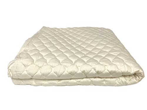 OrganicTextiles Organic Cotton Mattress Pad with 100% Organic Filling, Eco-Friendly Organic Content for a Healthy Sleep, King Size 17 Deep Pocket