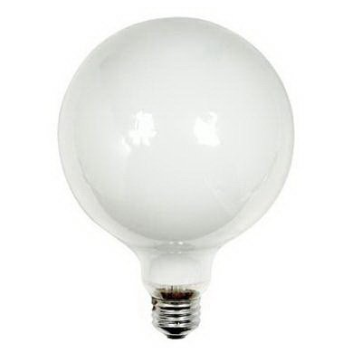 GE Lighting Incandescent Lamp, 100 watt, 120 volt, G40, Medium Screw (E26) Base, 1380 lumens, White (Medium Screw G40)