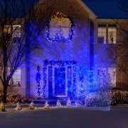 Gemmy Lightshow Christmas Lights LED Projection Kaleidoscope Lights, Icy Blue - Pack of 3