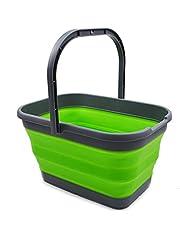 SAMMART 12L (3.1 Gallon) Collapsible Rectangular Handy Basket / Bucket