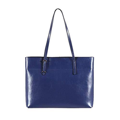 Real La Azul Bolso Tendencia Moda Señoras Verano Las Práctica Viajes Compras Cera Petróleo Duotone De Ocio Hombro gTtqxHnBaw