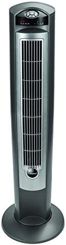 "Lasko Portable Electric 42"" Oscillating Tower Fan with Nighttime Setting, Timer and Remote Control for In"