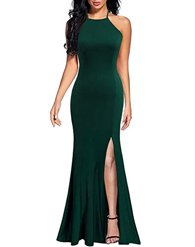 c24bb69dacb3 Lyrur Sexy Long Formal Dress for Women Party Wedding Guest Sleeveless  Mermaid Evening Gowns with Straps