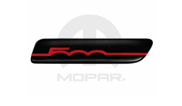 Fiat Genuine Accessories 82212755 500//500C Black//Red 500 Logo Side Molding