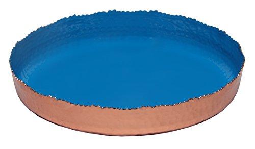 Platter 11 Round - Melange Home Decor Copper Collection, 11-inch Round Platter, Color - Blue