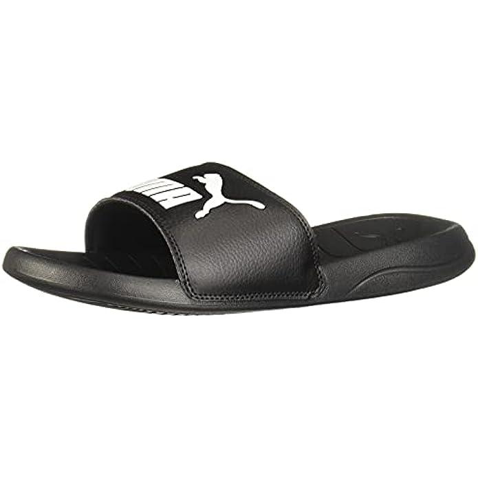 PUMA Unisex-Adult Men's Logo Popcat Slide Sandal