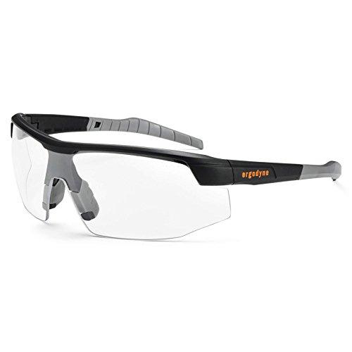 Ergodyne Skullerz SKOLL Safety Glasses-Matte Black Frame, Anti-Fog Clear Lens